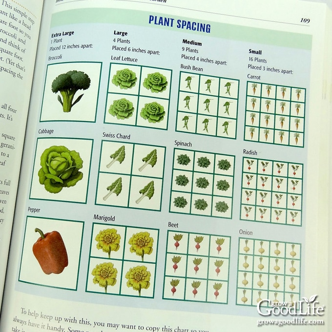 photo of square foot garden book page