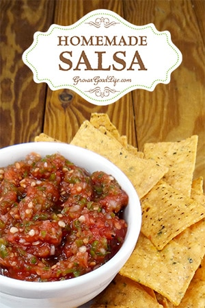 With fresh ingredients available from the garden and a food processor, it is easy to whip up a batch of homemade fresh salsa. This is my simple go to recipe.