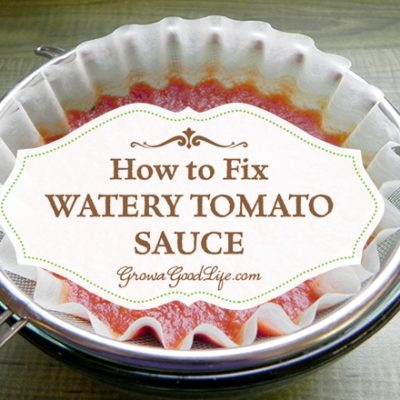How to Fix Watery Tomato Sauce