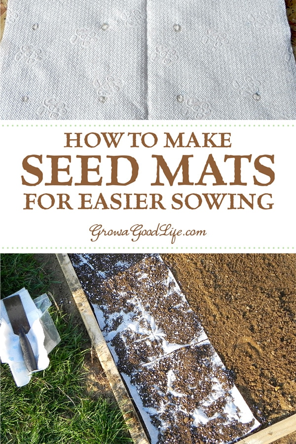 Seed mats or seed tapes are helpful for planting tiny seeds, such as lettuce and carrots that are hard to sow one at a time. Also a great project for a rainy day when you can't get out to the garden.