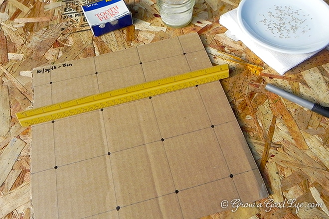 seed mat template
