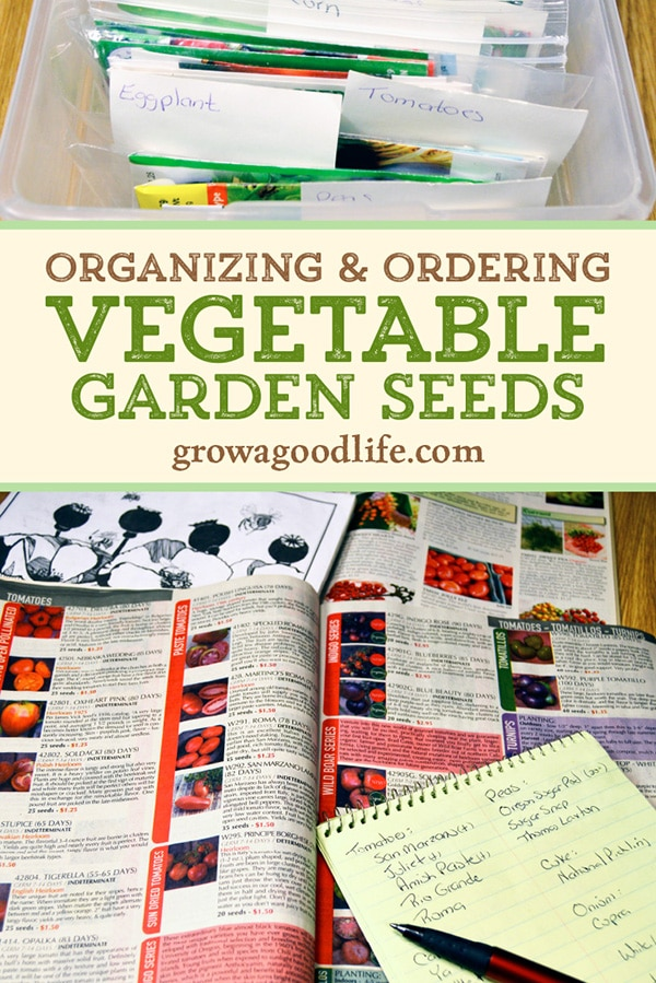 making a list of seeds from seed catalogs