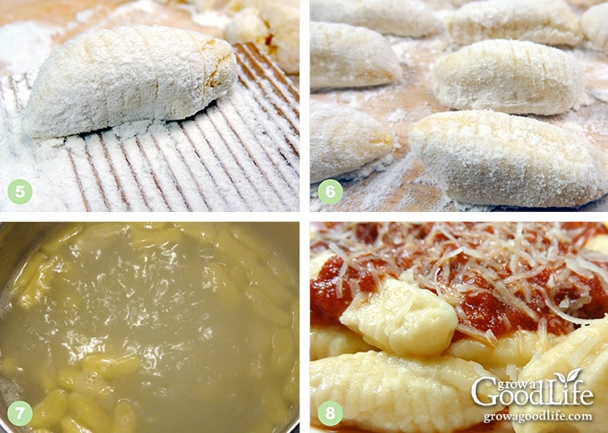 steps showing how to make the gnocchi