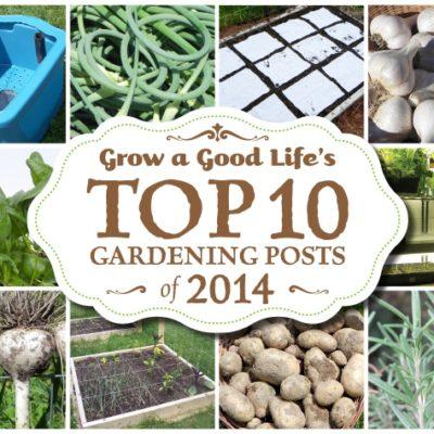 Top 10 Gardening Posts of 2014 at Grow a Good Life
