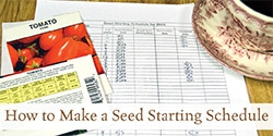 How to Develop a Seed Starting Schedule | Grow a Good Life