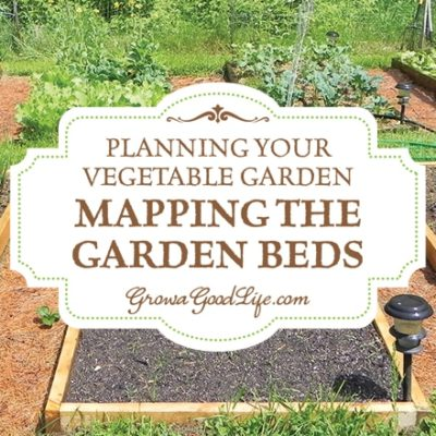 Mapping your vegetablegarden before planting will help you seehow many seedlings you need, where they will be planted, and how you can keep each bed producing all through the growing season.