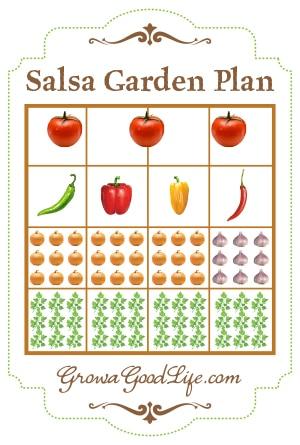 Salsa Garden Plan for Raised Bed or Square Foot Garden   Grow a Good Life