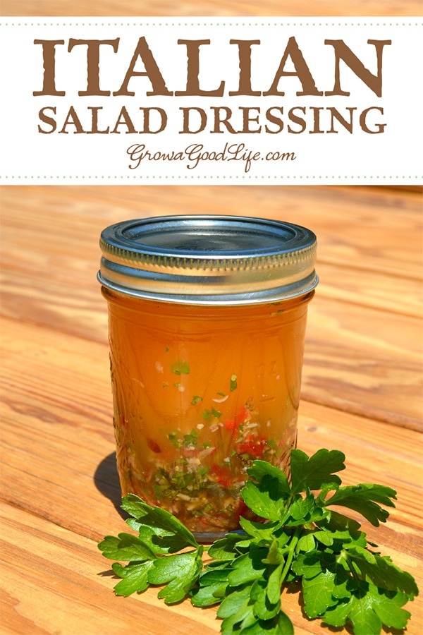 Making your own Italian salad dressing from scratch is really easy. It only takes a few minutes to prepare the ingredients and shake up a jar. Use this Mason jar Italian salad dressing recipe as a guideline and modify it to your own palate.
