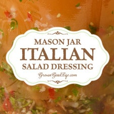 No more store bought bottles! Make your own Homemade Italian Salad Dressing with simple ingredients you already have in your kitchen.