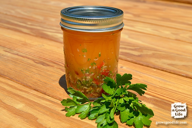 Make your own Homemade Italian Salad Dressing with simple ingredients you already have in your kitchen and some fresh herbs.