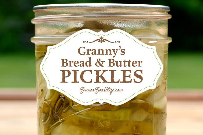 Granny's Bread and Butter Pickles Recipe