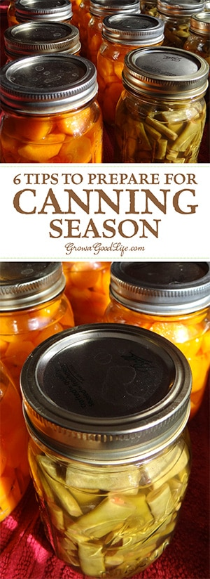 It is easy to become overwhelmed when the majority of the organic garden harvest comes in at once. Prepare for canning season with these tips.