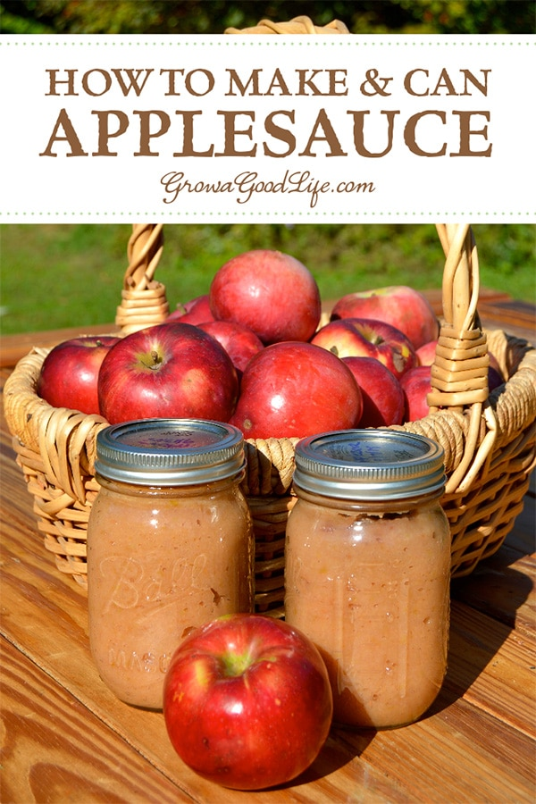 A great way to preserve apples when they are in season is to make your own homemade applesauce and can it in a water bath canner. Unlike many canning recipes, apples do not need special ingredients to make apples safe for canning. Apples are high in acid and have enough natural sugar to preserve well when canned in a water bath canner.