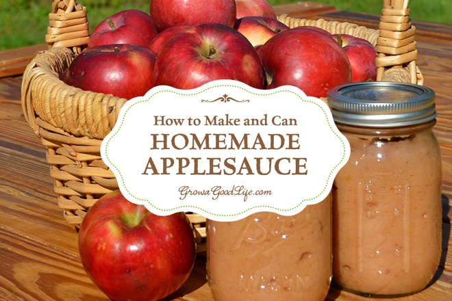 A great way to preserve apples when they are in season is to make your own homemade applesauce with no sugar added and can it in a water bath canner.