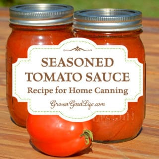Seasoned Tomato Sauce Recipe for Home Canning