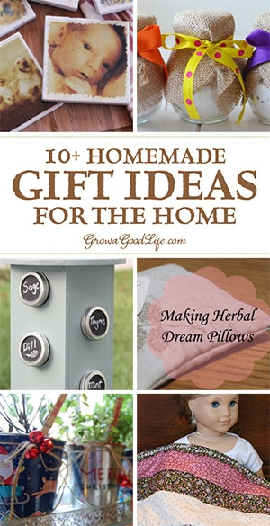 DIY gifts are always appreciated because they are unique and come from the heart. Gifts that are made by hand not only show you care, but can be personalized to the recipients style by using colors that match their decor or scents that they love. Here are over 10 DIY gift ideas and tutorials to brighten up the homes of those you love.