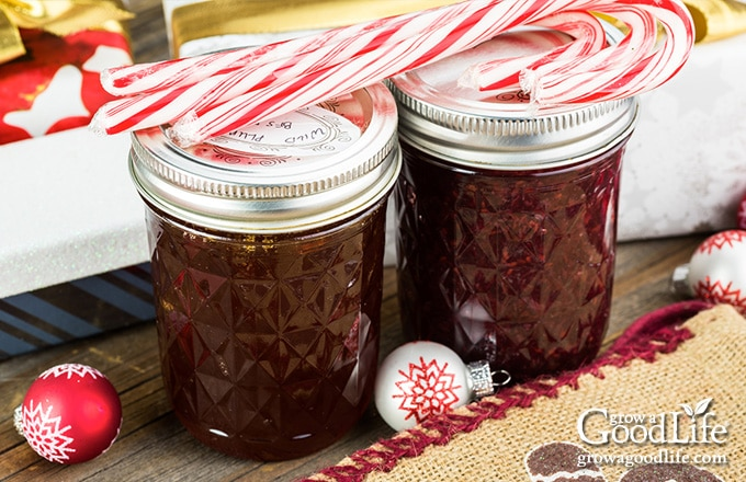 jars of jelly on the counter