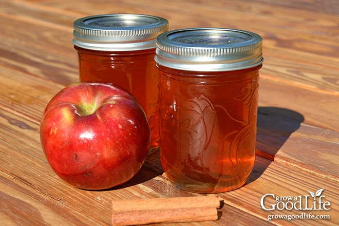 This spiced apple jelly recipe livens up the plain apple flavor with ...
