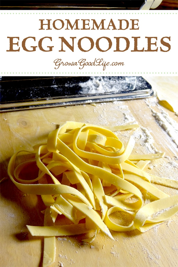Three simple ingredients are all you need to make your own fresh, homemade egg noodles.