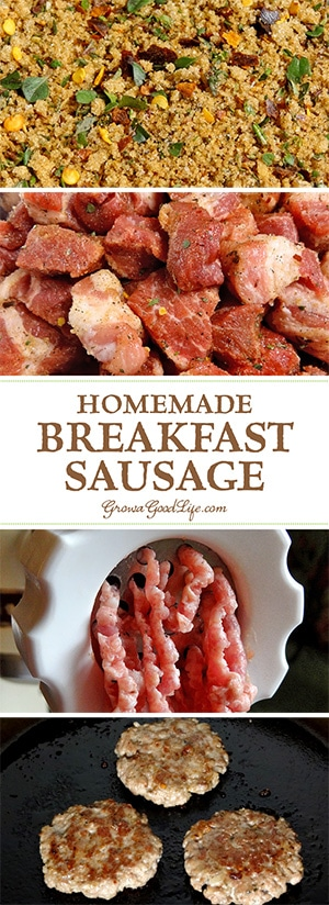 Make your own homemade breakfast sausage patties using good quality ingredients combined with fresh herbs and spices.