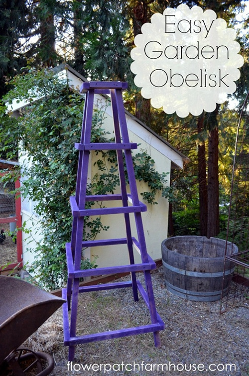 Obelisk tutorial from Flower Patch Farmhouse