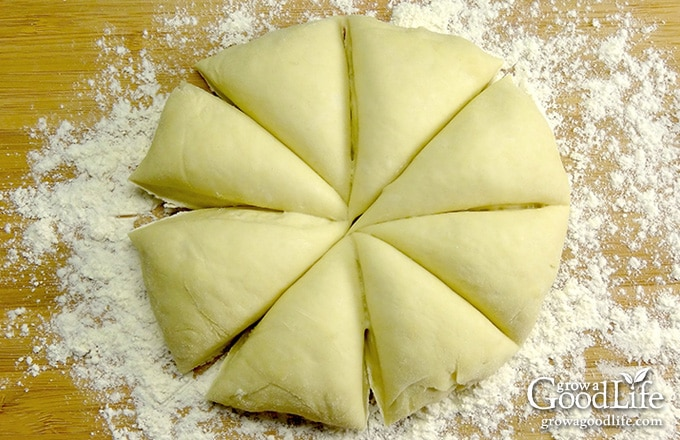 tortilla dough divided into eight portions