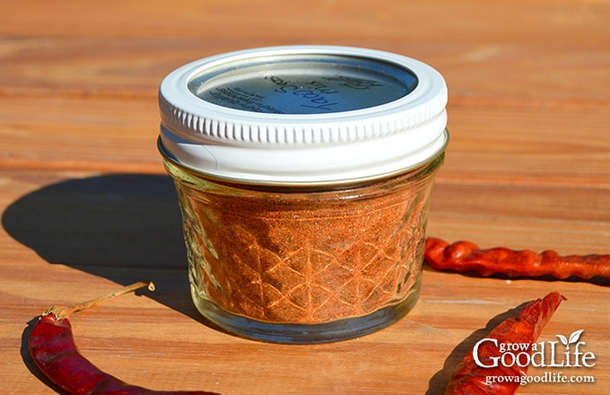Taco seasoning mix in a canning jar for storing in the spice cabinet