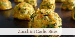 closeup of a zucchini garlic bite