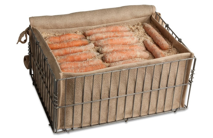 Root veggies like carrots and beets will stay fresh all winter and even grow sweeter in this storage bin from Gardener's Supply.