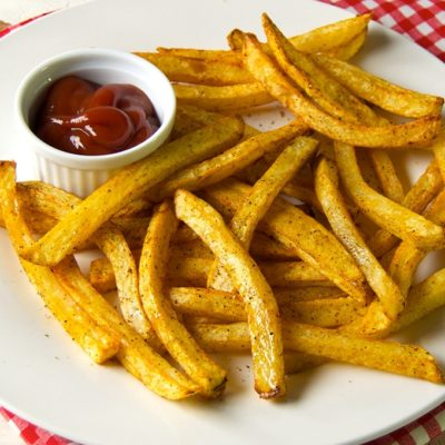 Crispy Taco Seasoned Baked French Fries