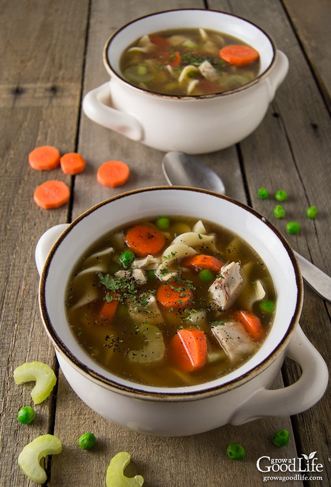 Save the turkey bones from your holiday dinner. You can use them to make a rich and flavorful turkey stock that is perfect for turkey noodle soup. This comforting soup is a wonderful way to warm up on a chilly night.