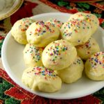 a plate of Italian Anise Cookies on a table