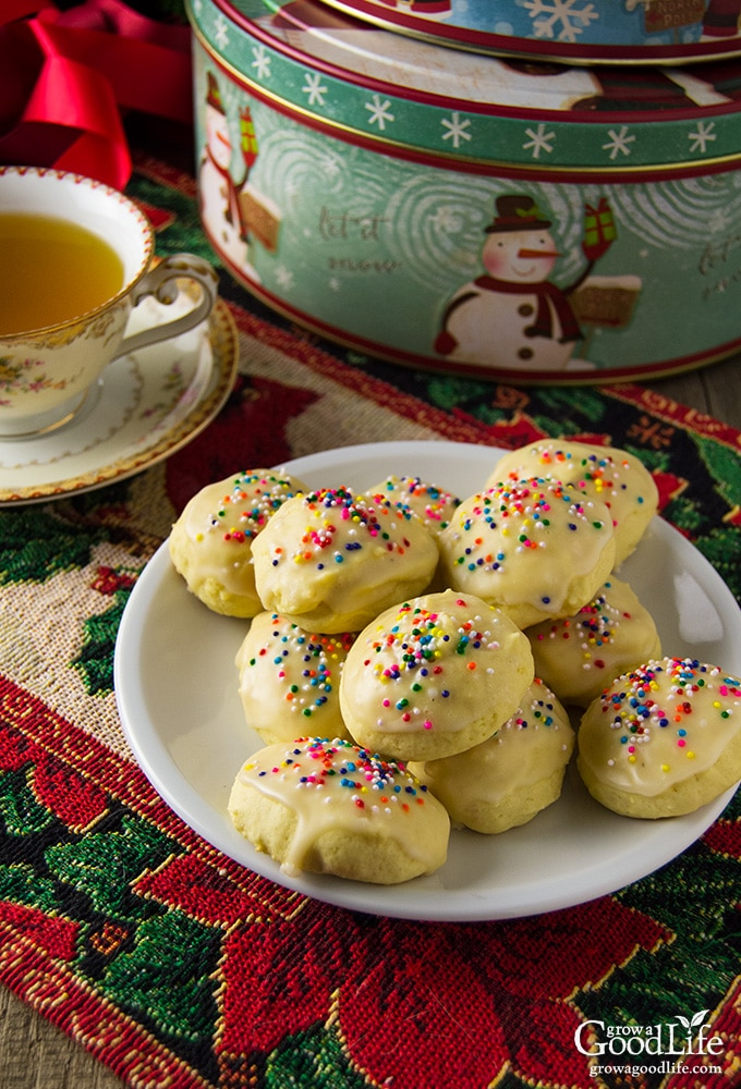 The unique flavor and appearance of these Italian anise cookies at Christmas is a comforting treat of family traditions and warm memories for many of us raised with Italian elders. Even if you are not Italian, these cookies are a delicious addition to your holiday cookie tray.