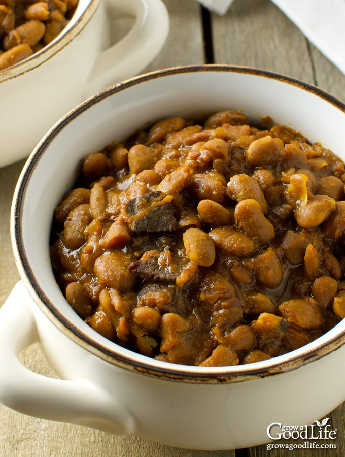With a few simple ingredients and time, you can make a delicious, slow cooked New England baked beans dinner. Skip the can and simmer your own homemade baked beans in your crock pot or slow cooker.