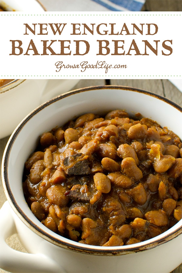 This traditional New England Baked Beans recipe is made from simple ingredients and tastes delicious. Use your crockpot and let it simmer all day.