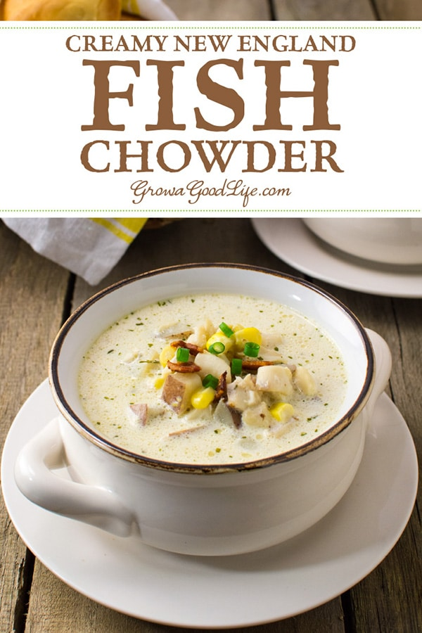 This classic creamy New England fish chowder recipe is made from simple ingredients and tastes like restaurant quality.