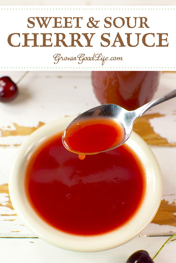 This sweet and sour cherry sauce recipe can be made from fresh cherries and fresh pineapple or bottled juice. This cherry sweet and sour sauce is delicious as a dip or stir-fry.