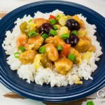 Skip the take-out and make this Sweet and Sour Chicken Stir Fry recipe using fresh cherries, pineapple, and vegetables - No thick breading and no deep-frying.