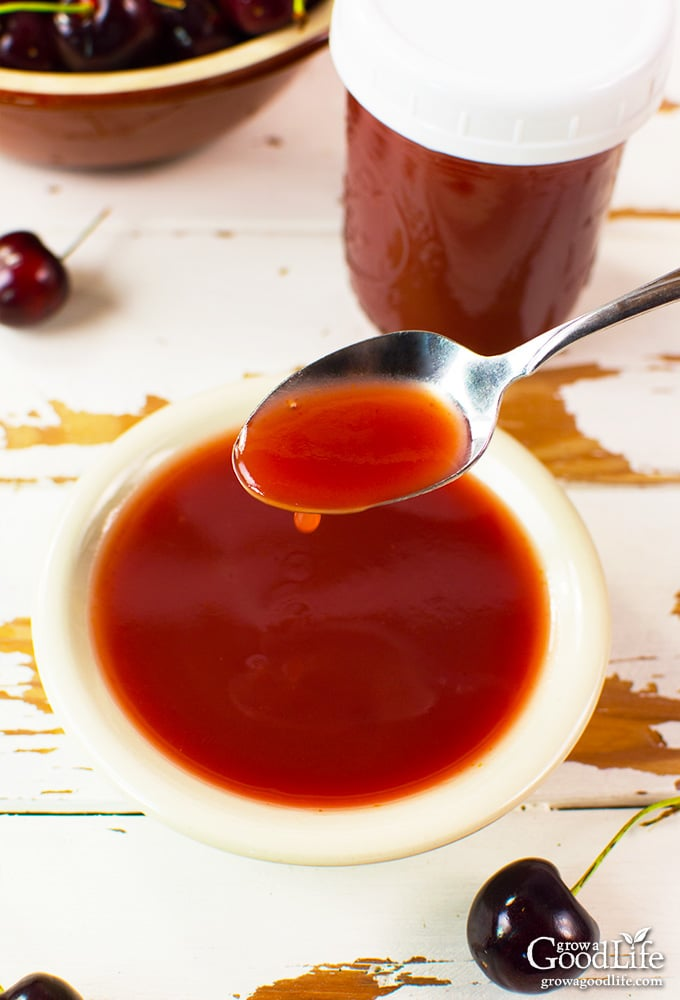 This sweet and sour sauce recipe can be made from fresh cherries and pineapple or bottled juice. Delicious with chicken, pork, vegetables, noodles or rice.