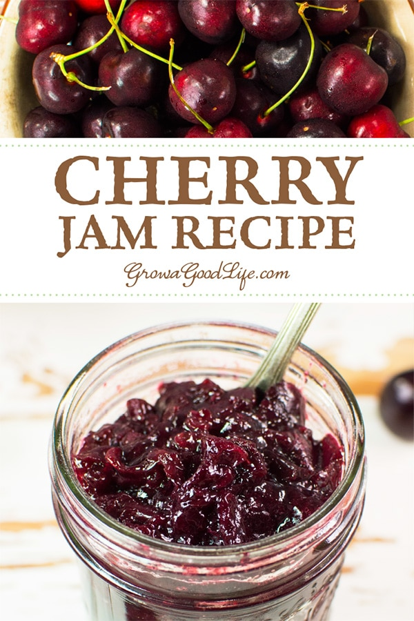 This chunky, low-sugar cherry jam is delicious slathered on toasted homemade bread, swirled in yogurt, or drizzled over ice cream. Less sugar lets the natural fruit flavor shine.