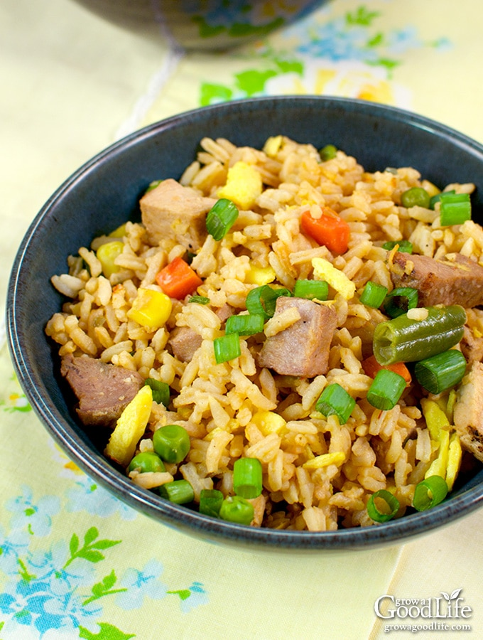 Transform leftovers into a tasty pork fried rice. Combine pork, rice, and veggies with a ginger garlic sauce for a dish that will satisfy your craving for takeout.