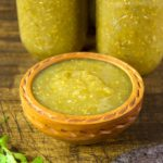 Canning roasted tomatillo salsa is a great way to preserve the abundance of tomatillos that the garden produces. Jars of tomatillo salsa verde come in handy for all your favorite Mexican dishes.