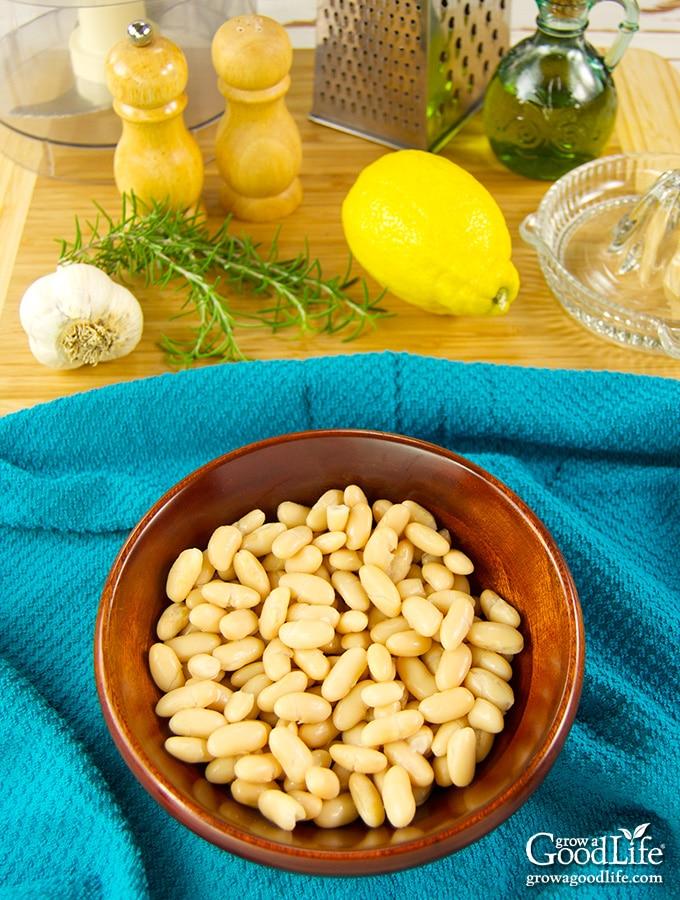 Ingredients for Roasted Garlic White Bean Dip