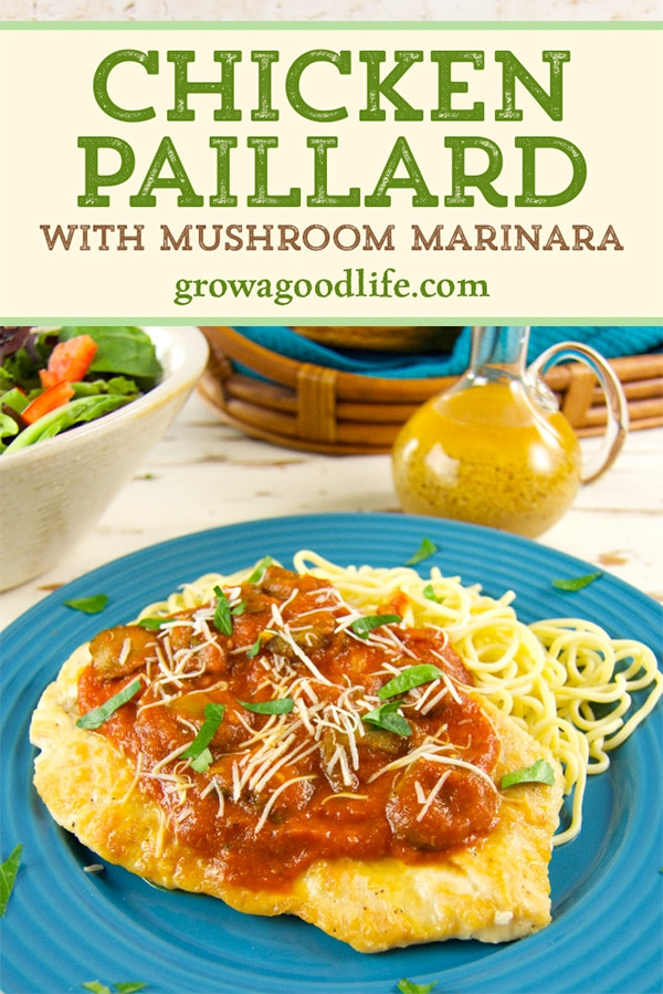 In this delicious recipe, chicken breasts are pounded thin, pan-fried until crispy, and then smothered in a mushroom marinara sauce. A quick recipe that will come together in about 30 minutes.