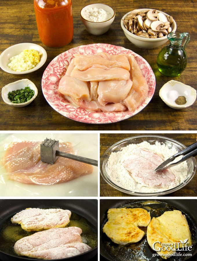 Steps to prepare the chicken cutlets