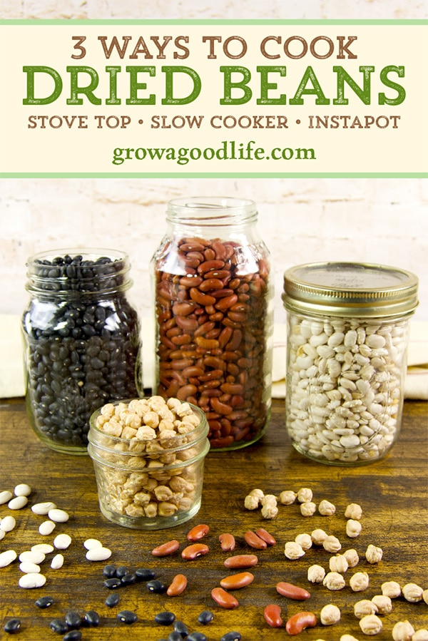 Dried beans do take time to soak and cook. But you can prepare them ahead of time in large batches and store them in the freezer. Visit for tips on cooking dried beans on the stove, in a crockpot, and using an electric pressure cooker.