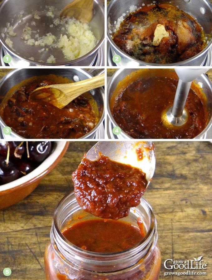 Steps to Making Cherry BBQ Sauce