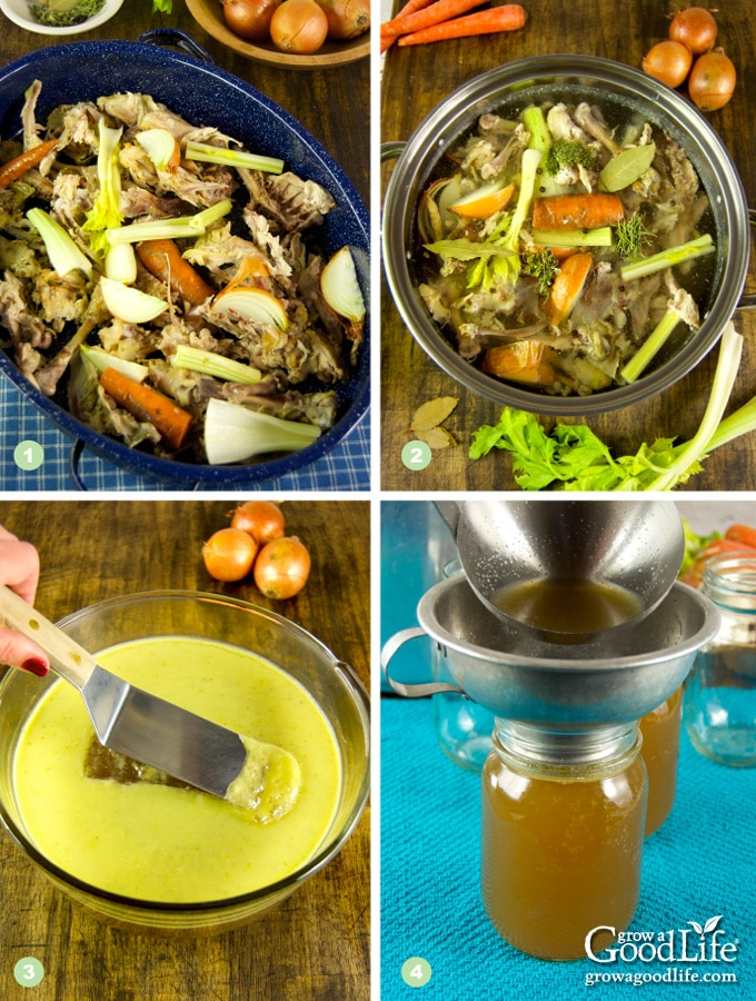 Chicken stock is a must have pantry essential for many recipes, including soups, stews, gravies, and stir-fry. Skip the store bought cartons and make and can chicken stock instead.