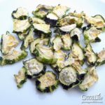 dehydrated zucchini on a white plate