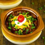 You can't go wrong with chili. Since the chili simmers in the slow cooker all day, it is perfect for a weeknight meal.
